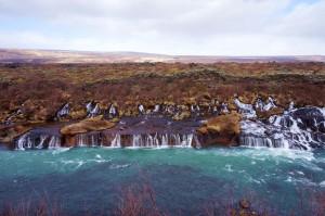 Lava waterfall
