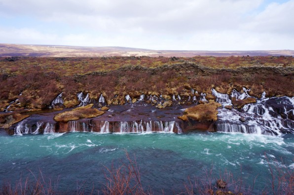 Lava Waterfall (Hraunfossar)