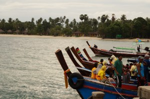 Local longtail boats